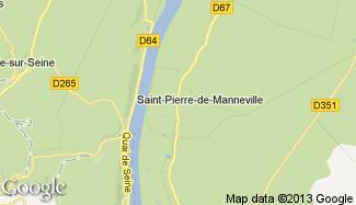 Plan de Saint-Pierre-de-Manneville