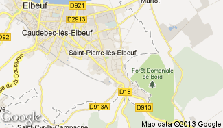 Plan de Saint-Pierre-lès-Elbeuf
