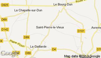 Plan de Saint-Pierre-le-Vieux
