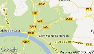 Plan de Saint-Wandrille-Rançon