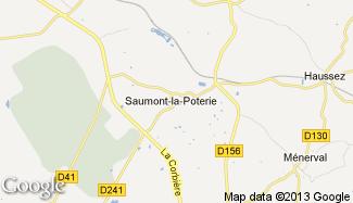 Plan de Saumont-la-Poterie