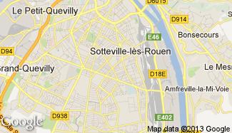 Plan de Sotteville-lès-Rouen