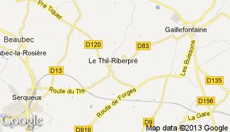 Plan de Le Thil-Riberpré