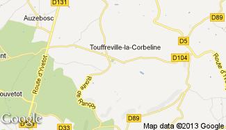 Plan de Touffreville-la-Corbeline