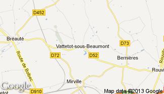 Plan de Vattetot-sous-Beaumont