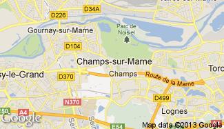 Plan de Champs-sur-Marne