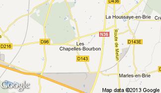 Plan de Les Chapelles-Bourbon