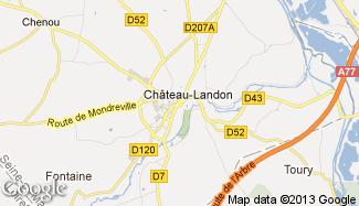 Plan de Château-Landon