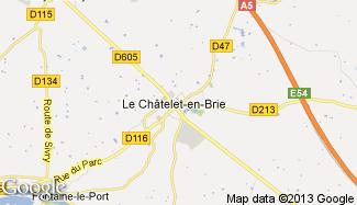 Plan de Le Châtelet-en-Brie