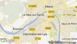 Plan de Dammarie-les-Lys