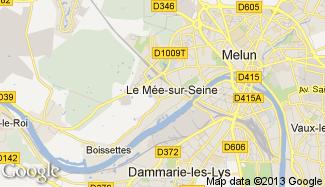 Plan de Le Mée-sur-Seine