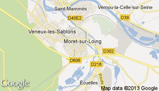 Plan de Moret-sur-Loing