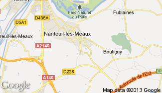Plan de Nanteuil-lès-Meaux