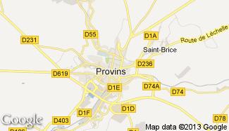 Plan de Provins