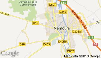 Plan de Saint-Pierre-lès-Nemours