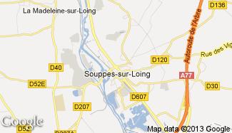 Plan de Souppes-sur-Loing