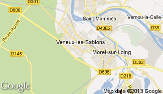 Plan de Veneux-les-Sablons