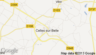 Plan de Celles-sur-Belle