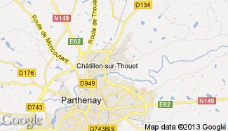 Plan de Châtillon-sur-Thouet