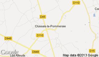 Plan de Clussais-la-Pommeraie