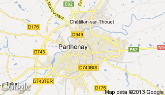 Plan de Parthenay