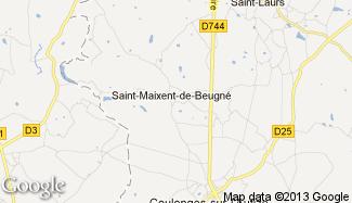 Plan de Saint-Maixent-de-Beugné