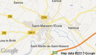 Plan de Saint-Maixent-l'École