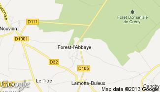 Plan de Forest-l'Abbaye
