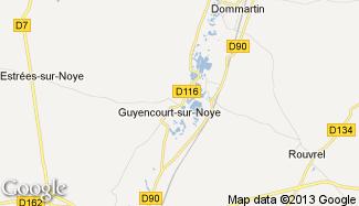 Plan de Guyencourt-sur-Noye
