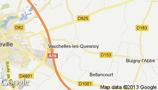Plan de Vauchelles-les-Quesnoy