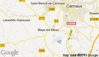 Plan de Blaye-les-Mines