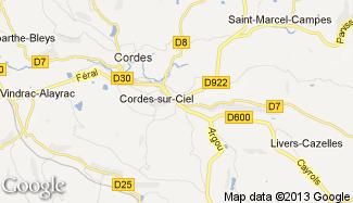 Plan de Cordes-sur-Ciel