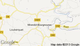 Plan de Mirandol-Bourgnounac