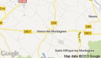 Plan de Viviers-lès-Montagnes