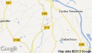 Plan de Cordes-Tolosannes