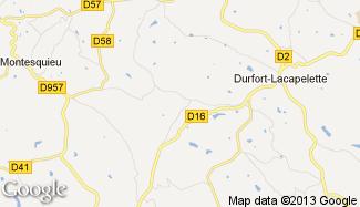 Plan de Durfort-Lacapelette