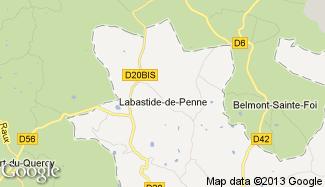 Plan de Labastide-de-Penne