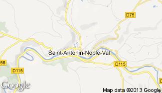 Plan de Saint-Antonin-Noble-Val