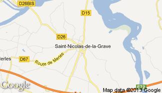 Plan de Saint-Nicolas-de-la-Grave