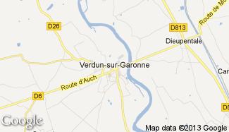 Plan de Verdun-sur-Garonne