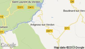 Plan de Artignosc-sur-Verdon