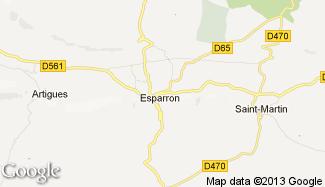 Plan de Esparron