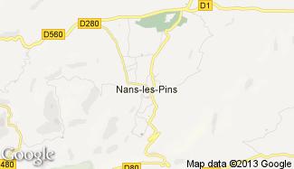 Plan de Nans-les-Pins