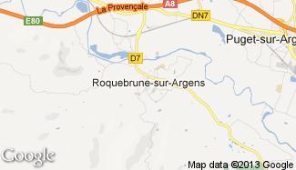 Plan de Roquebrune-sur-Argens