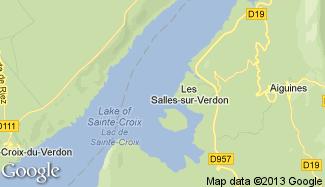 Plan de Les Salles-sur-Verdon