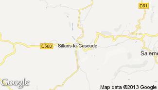 Plan de Sillans-la-Cascade