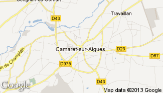 Plan de Camaret-sur-Aigues