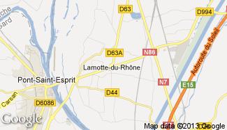 Plan de Lamotte-du-Rhône