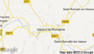 Plan de Vaison-la-Romaine
