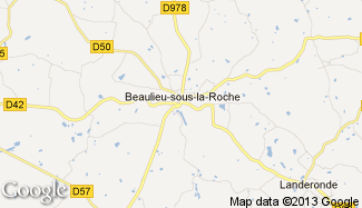 Plan de Beaulieu-sous-la-Roche